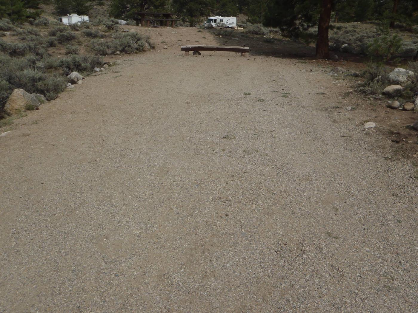 White Star Campground, site 47 parking