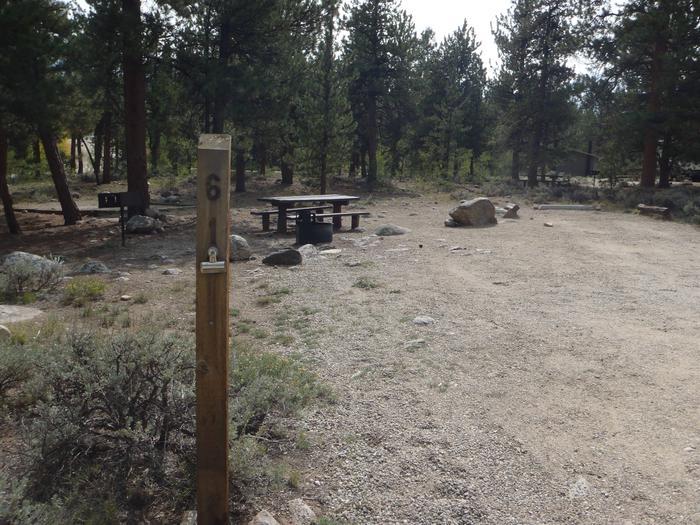 White Star Campground, site 61 marker