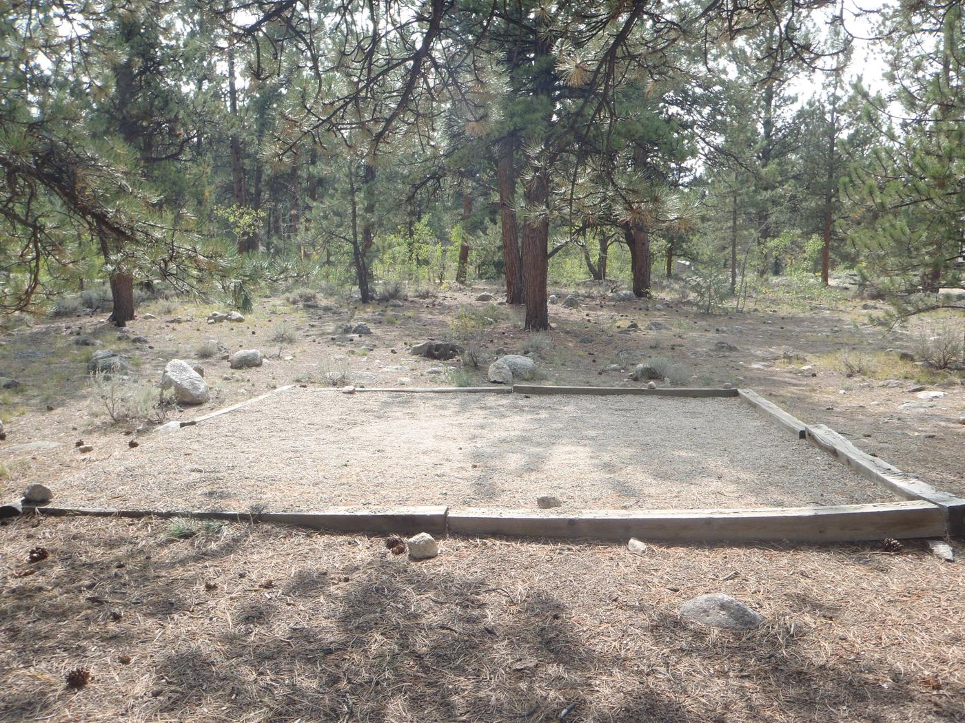 White Star Campground, site 61 tent pad