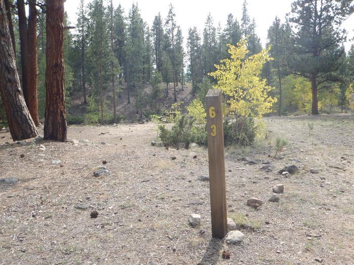 White Star Campground, site 63 marker