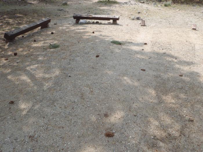 White Star Campground, site 63 parking
