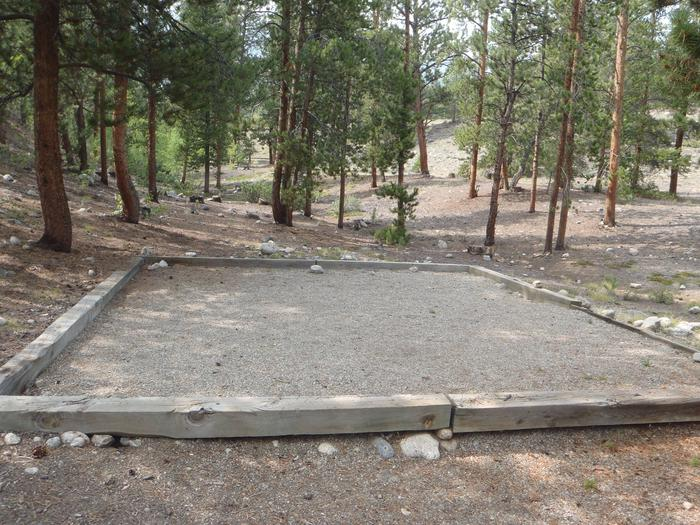 White Star Campground, site 65 tent pad 2