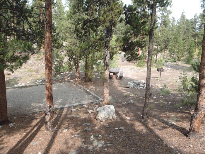 White Star Campground, site 65 tent pad