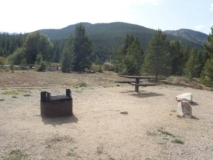 May Queen Campground, site 12 picnic table and fire ring 3