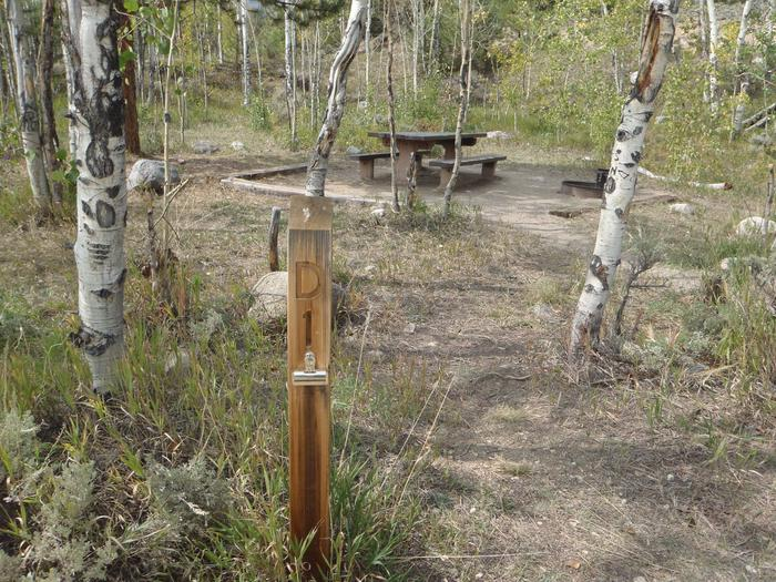 Lakeview Campground, site D1 marker 2