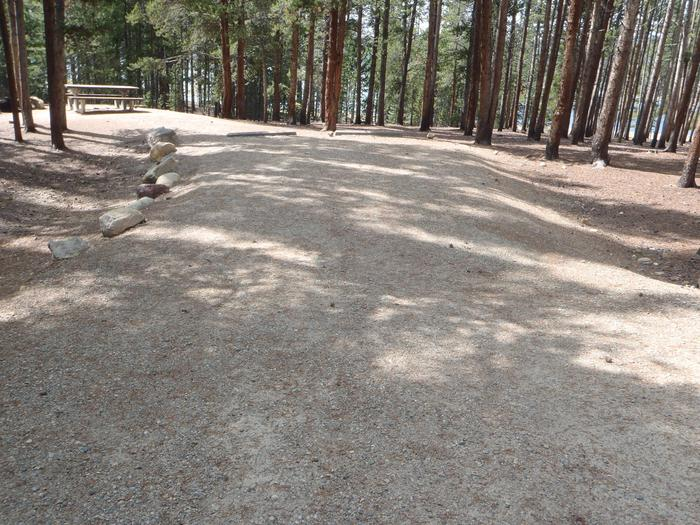 Baby Doe Campground, site 4 parking
