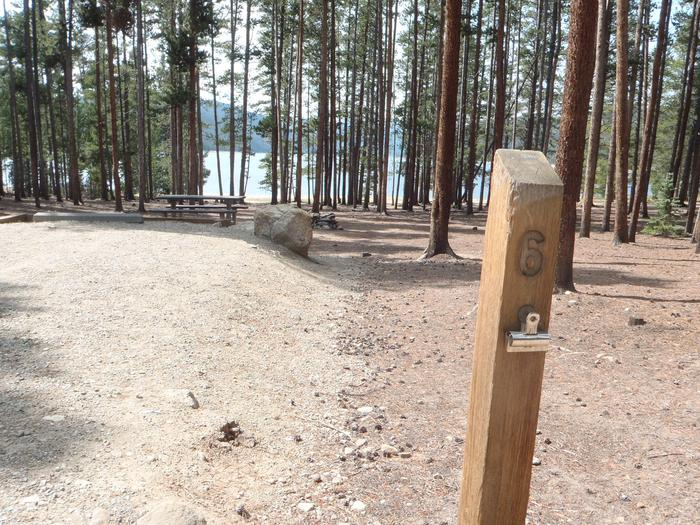 Baby Does Campground, Site 6 marker