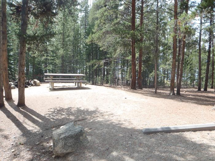 Baby Does Campground, Site 32 picnic table and fire ring 2