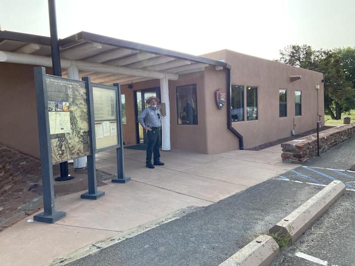 Quarai Visitor Center Close-upStop by the visitor center when you arrive to learn more about the trails and ruins at Quarai.