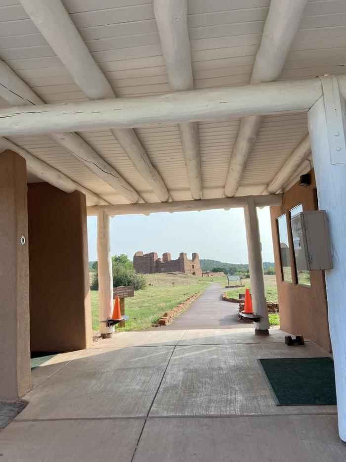Through the BreezewayWhen you walk through the breezeway at Quarai, you will be greeted with a stunning view of the ruins.