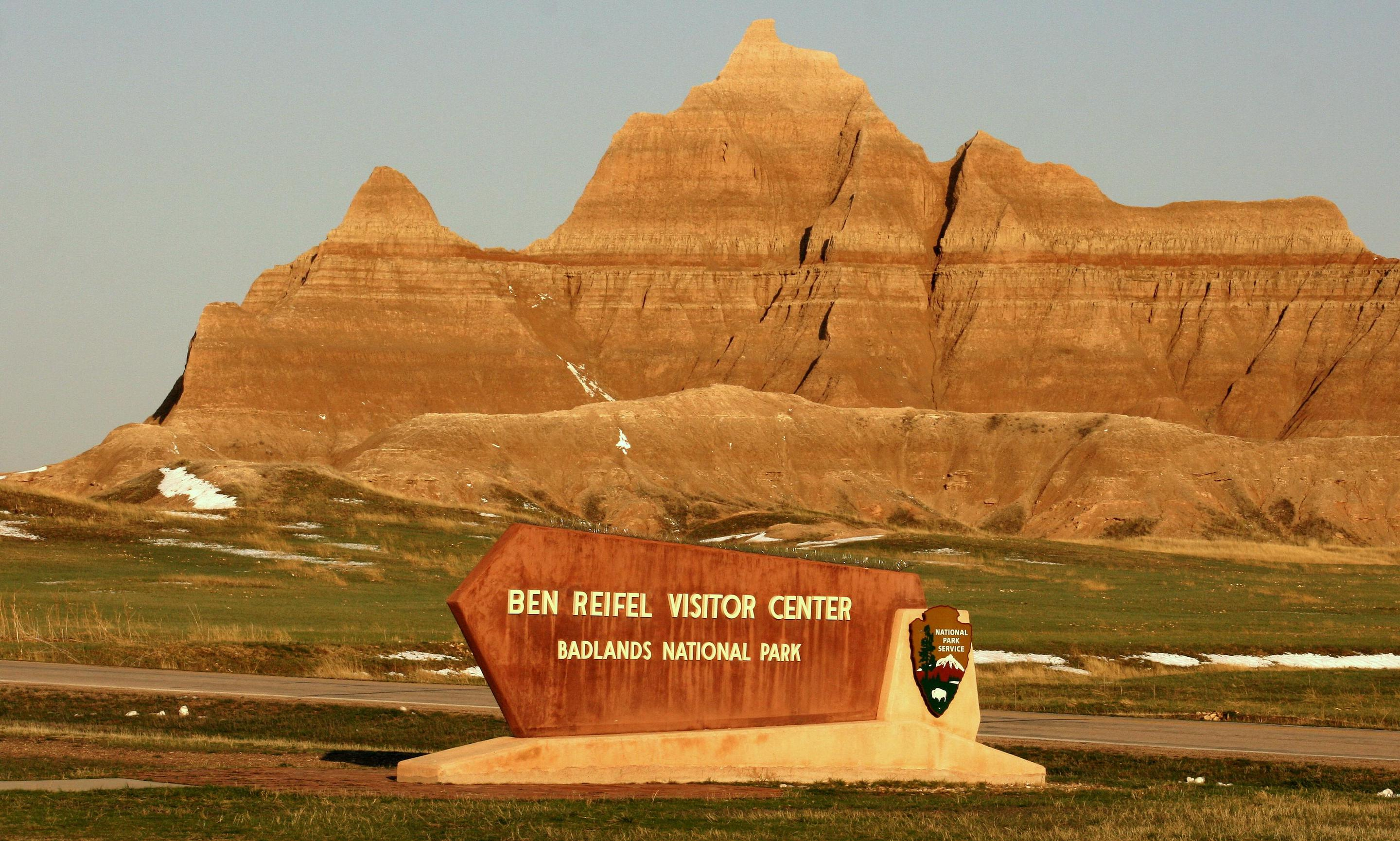 Ben Reifel Visitor Center 002The Ben Reifel Visitor Center is surrounded by Badlands buttes and formations.
