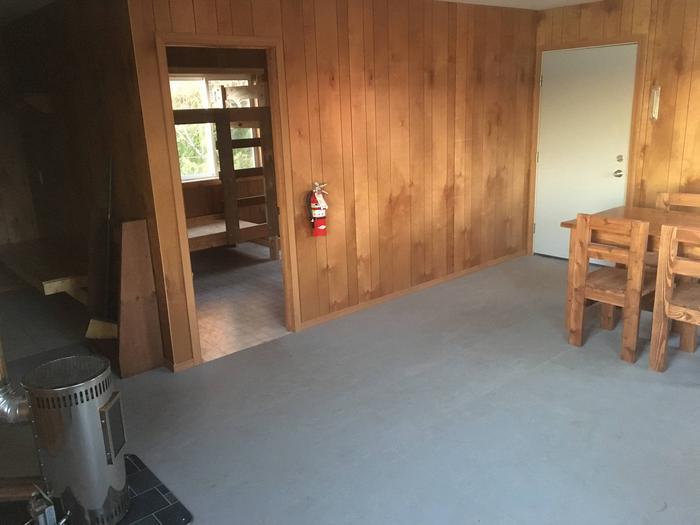Bedroom and back door