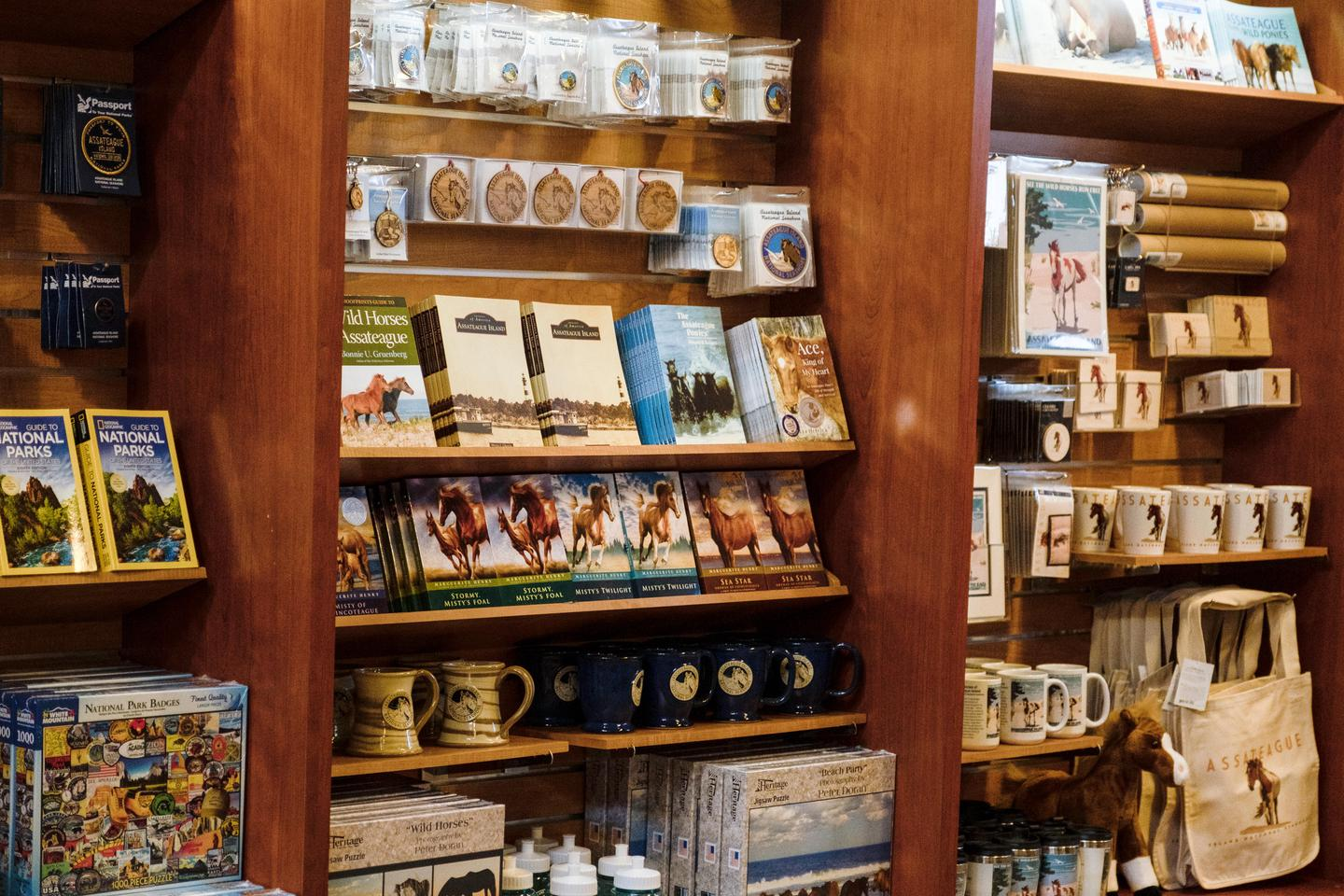 BookstoreImage of the America's National Parks Bookstore located inside the Visitor Center