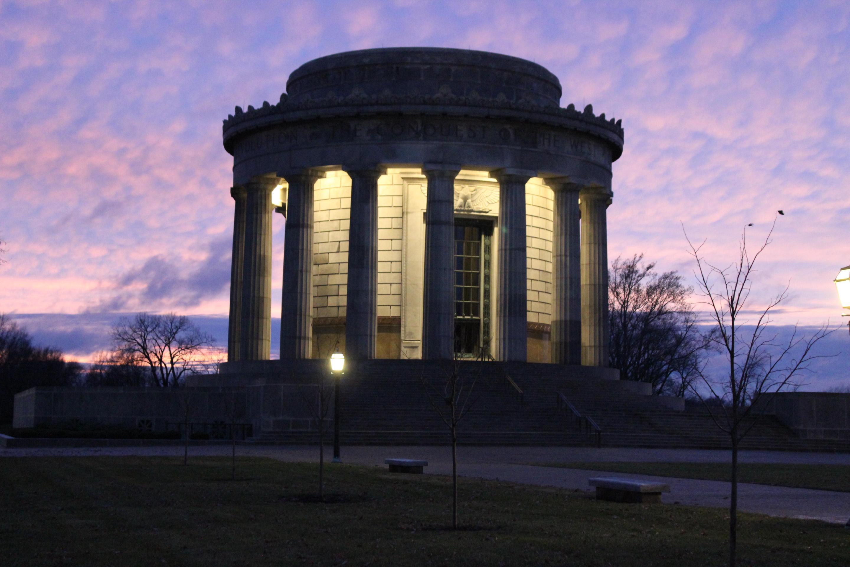 Purple Sunset MemorialSunset over the memorial
