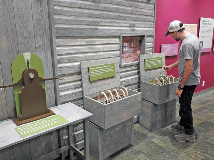 Exploring the New ExhibitsThe new exhibits at the Scotts Bluff National Monument Visitor Center are interactive.