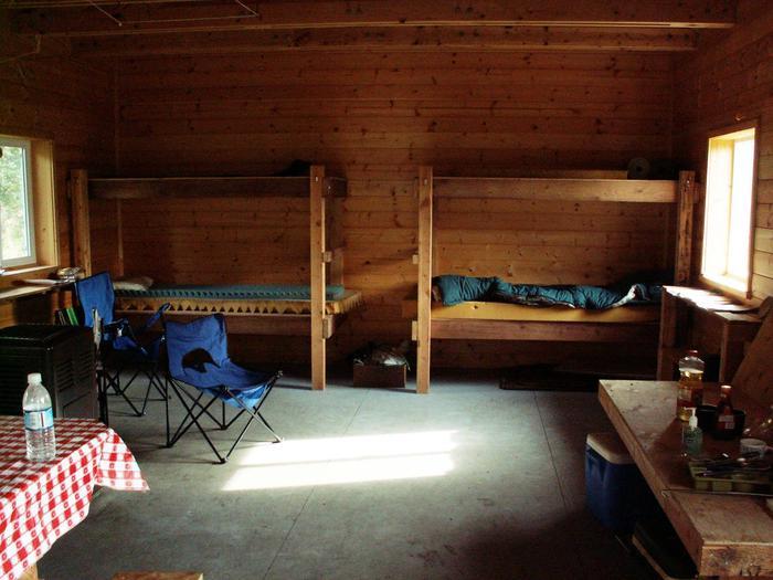 inside view of Esker Stream Cabin (Wrangell-St Elias)