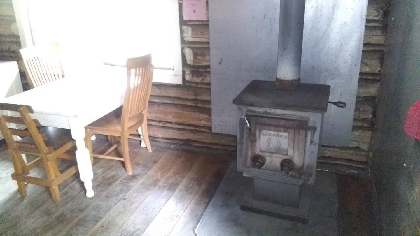 stove and table