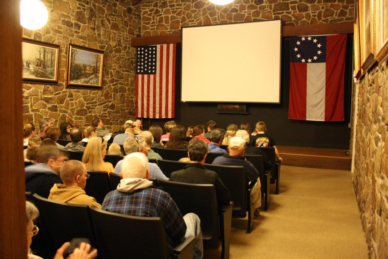 Pea Ridge Visitor Center AuditoriumInside the Pea Ridge National Military Park's visitor center auditorium hall during the 150th Anniversary of the Battle of Pea Ridge, 3-10-2012.