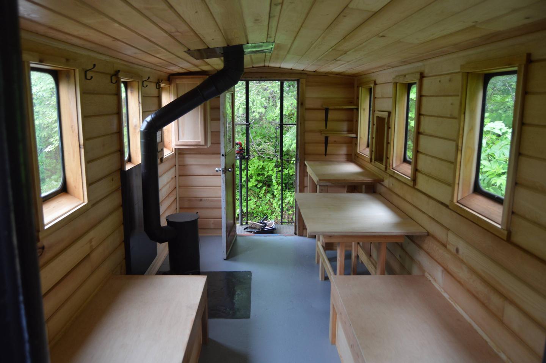 Cabin interiorRestored cabin interior
