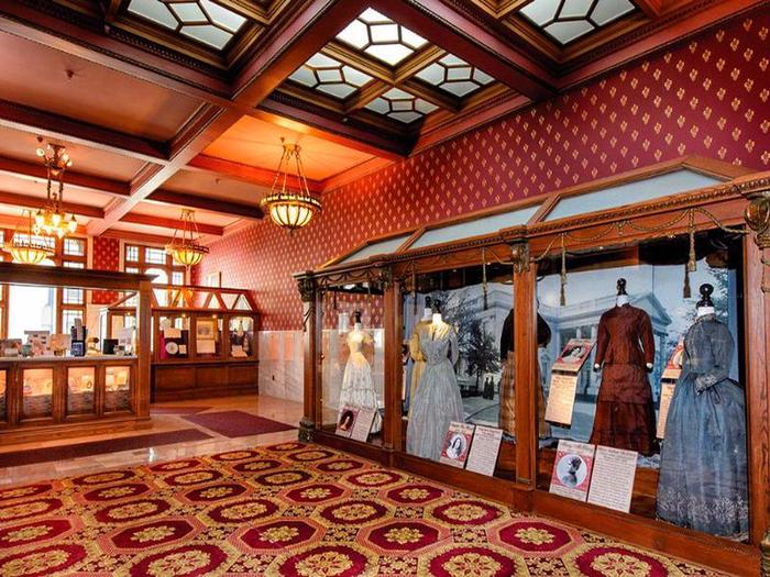 The education center features rotating exhibits.Learn about the role of the first lady at our education center.