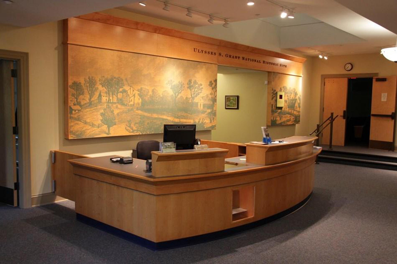 Visitor Center InteriorVisitor Center information desk.