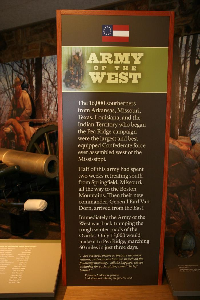 Union ExhibitsOne of the Union Army exhibits inside the visitor center at Pea Ridge National Military Park.