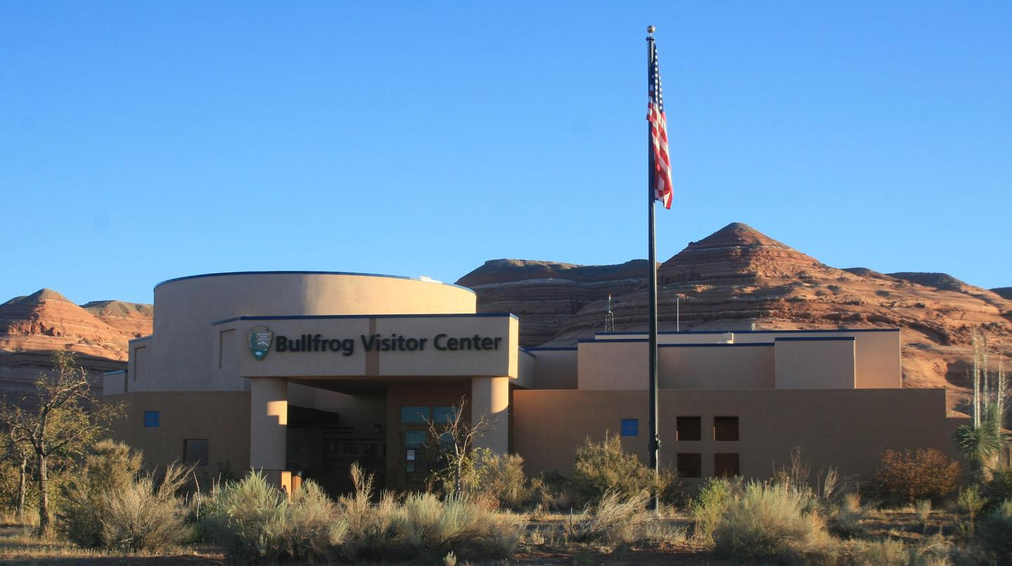 Bullfrog Visitor CenterThe Bullfrog Visitor Center is also the home of the ranger station and the urgent care clinic.