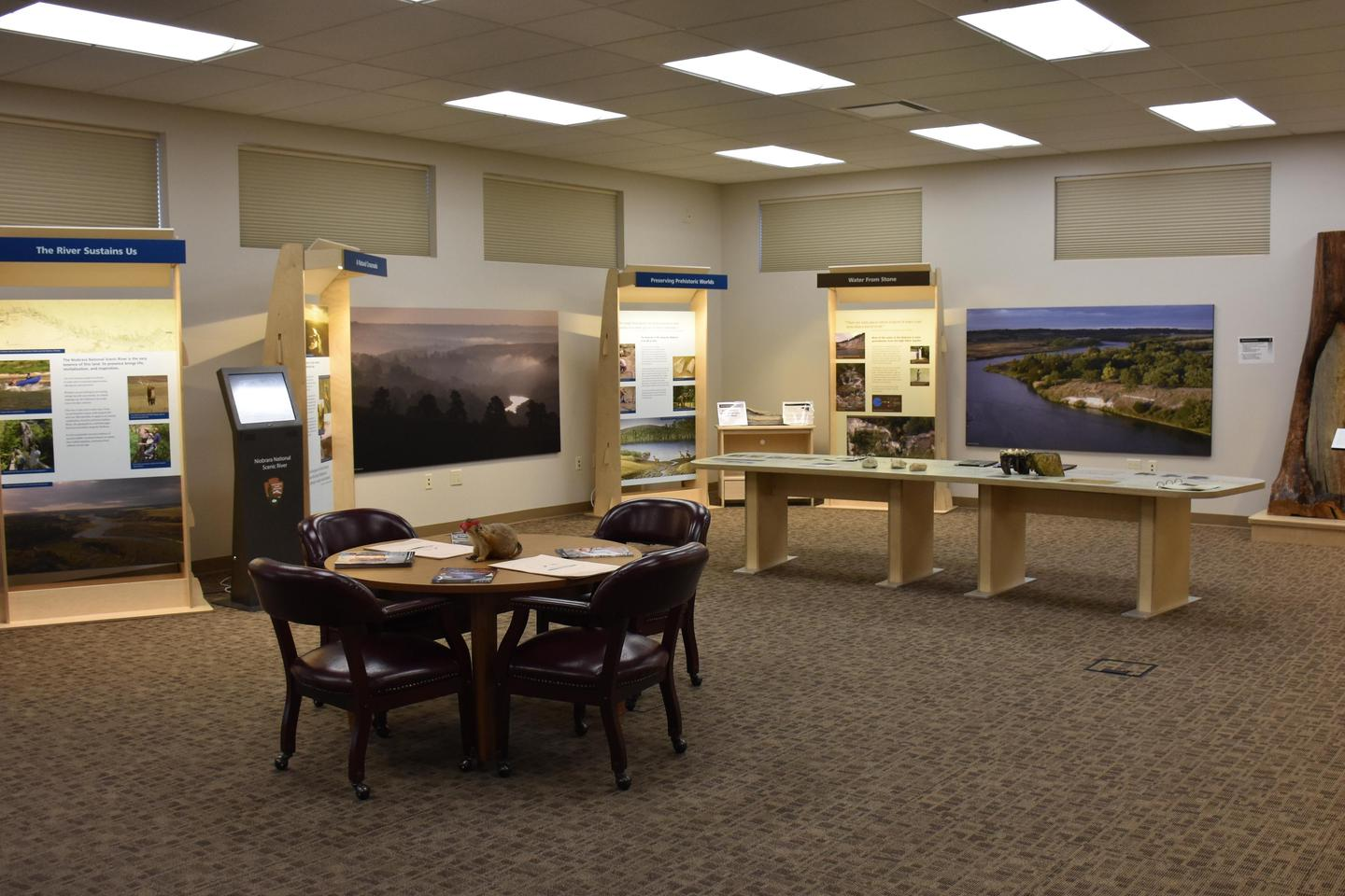 Niobrara National Scenic River Visitor Center InteriorOur Visitor Center has exhibits with photos and information about the park along with activities and films