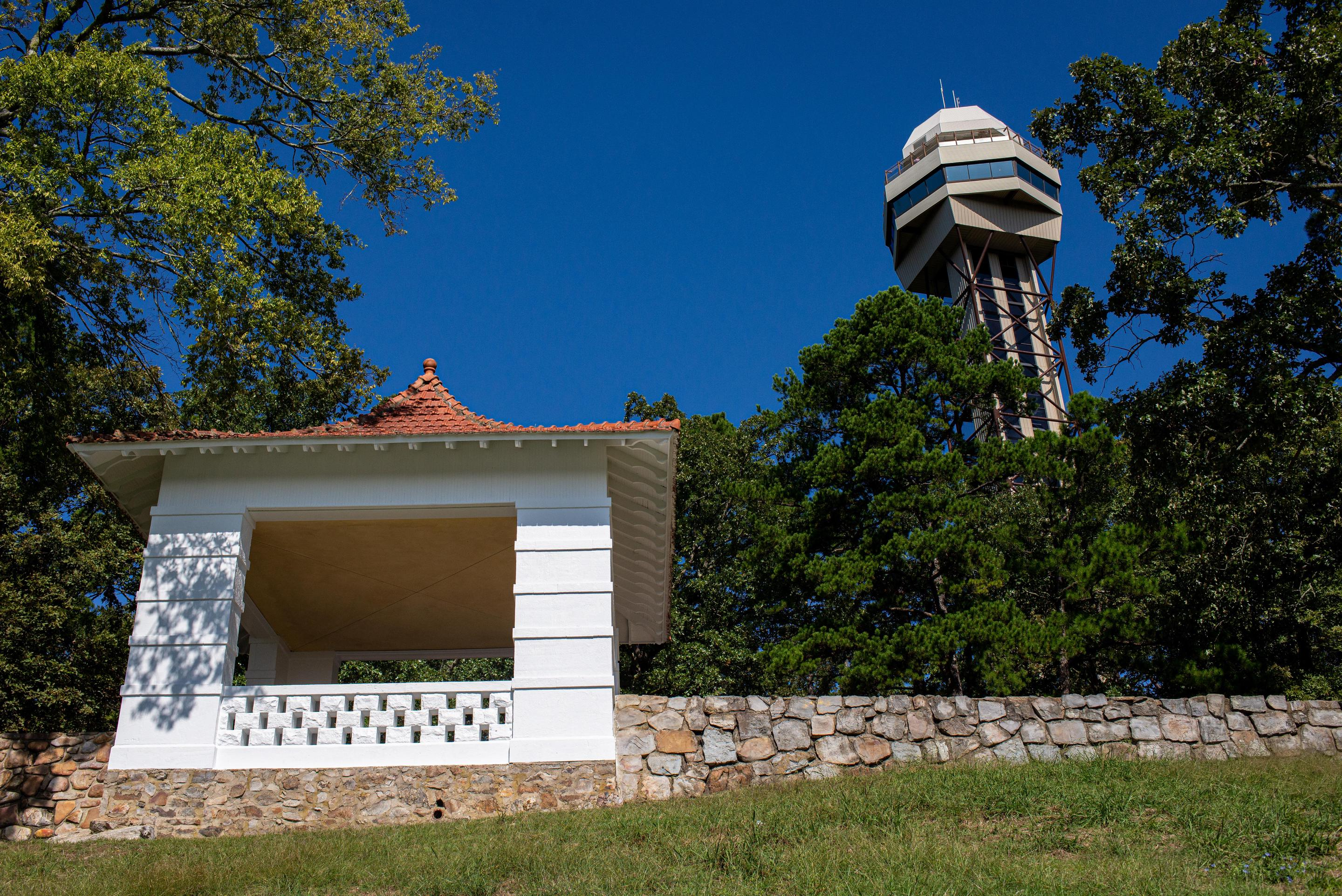 Mountain Tower and PagodaFor the best views of the Ouachita mountains, the tower and pagoda offer amazing and different sights