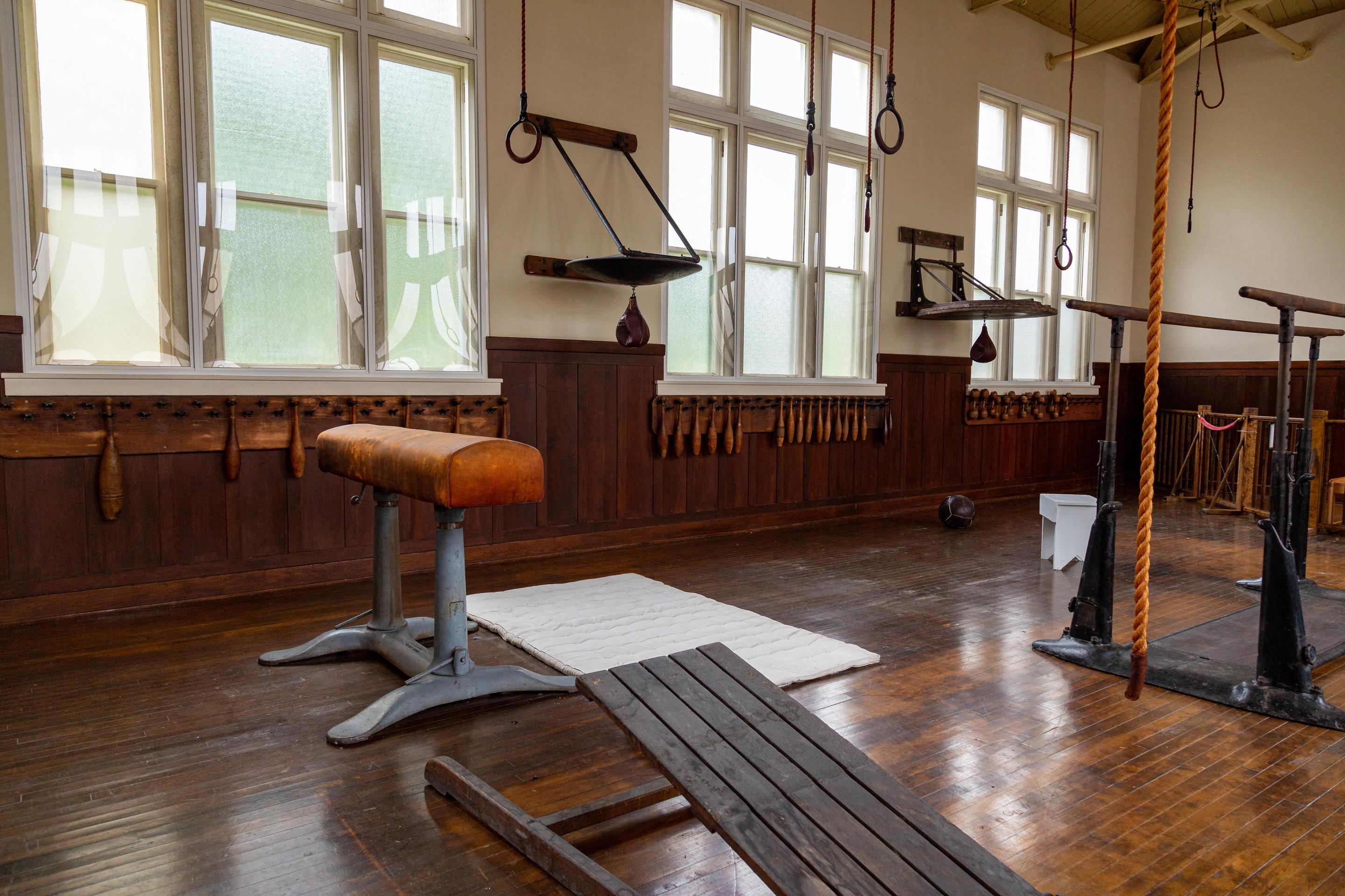 The Fordyce GymnasiumThe Fordyce Bathhouse also offered it's patients a gym