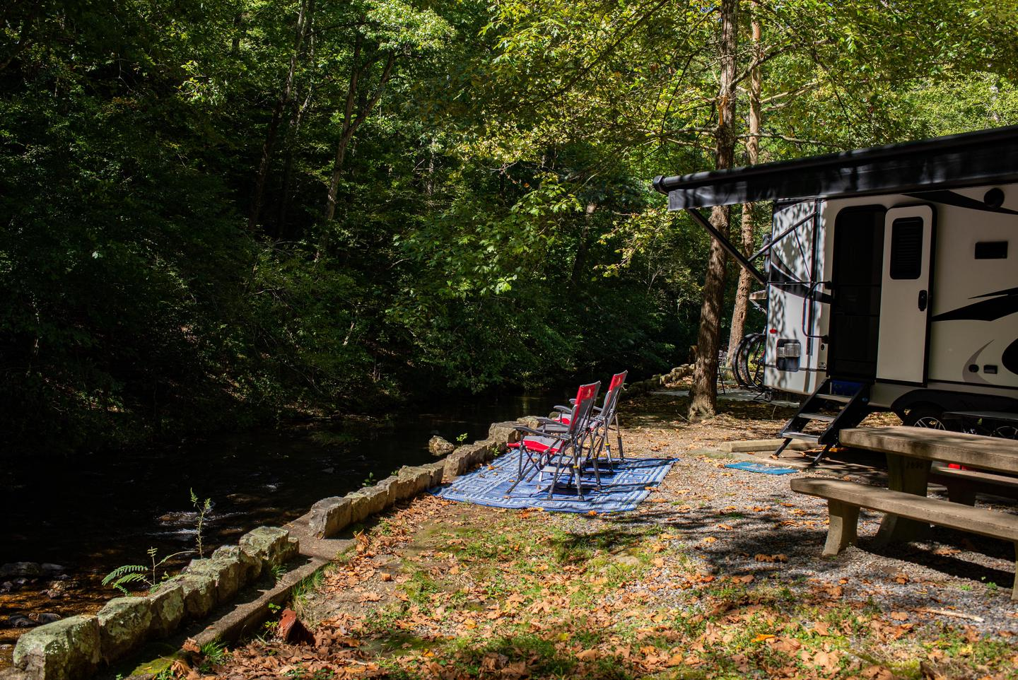 Relax by the CreekMany campsites are located along Gulpha Creek
