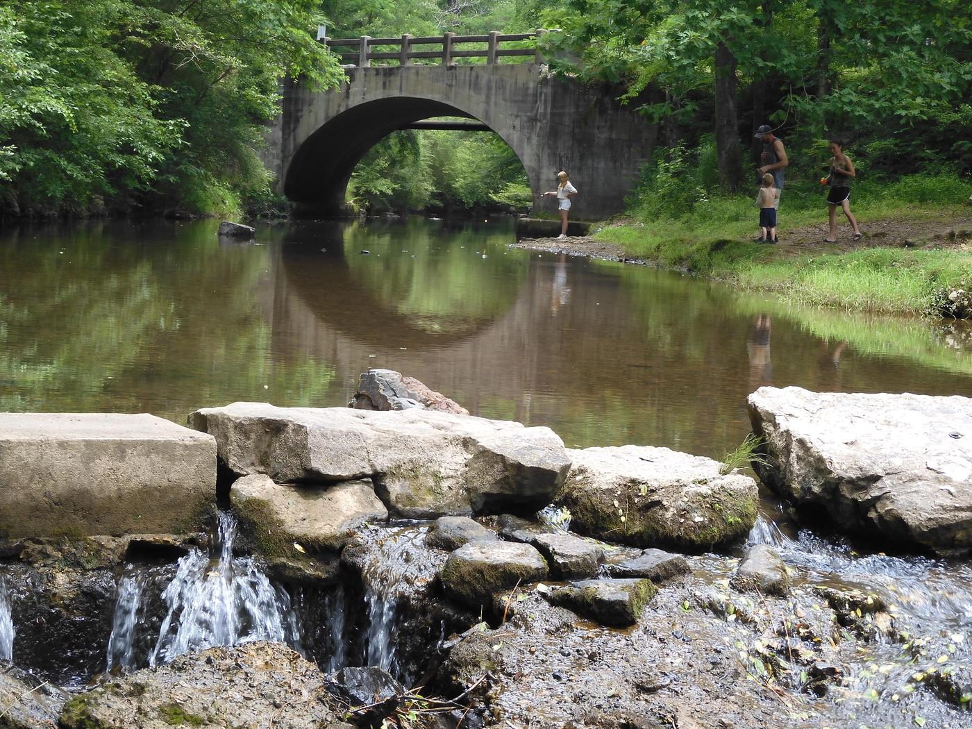 Gulpha CreekGulpha Creek runs right by the campground and is a perfect place to relax.