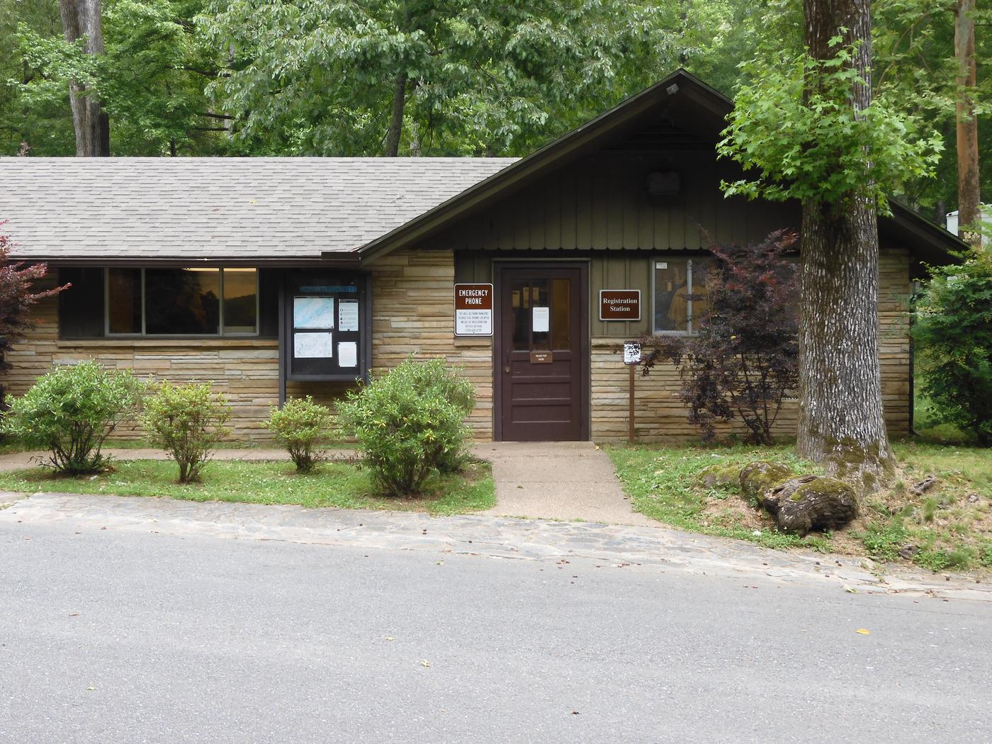 Pay StationThe fee station for campground reservations is located within this building.