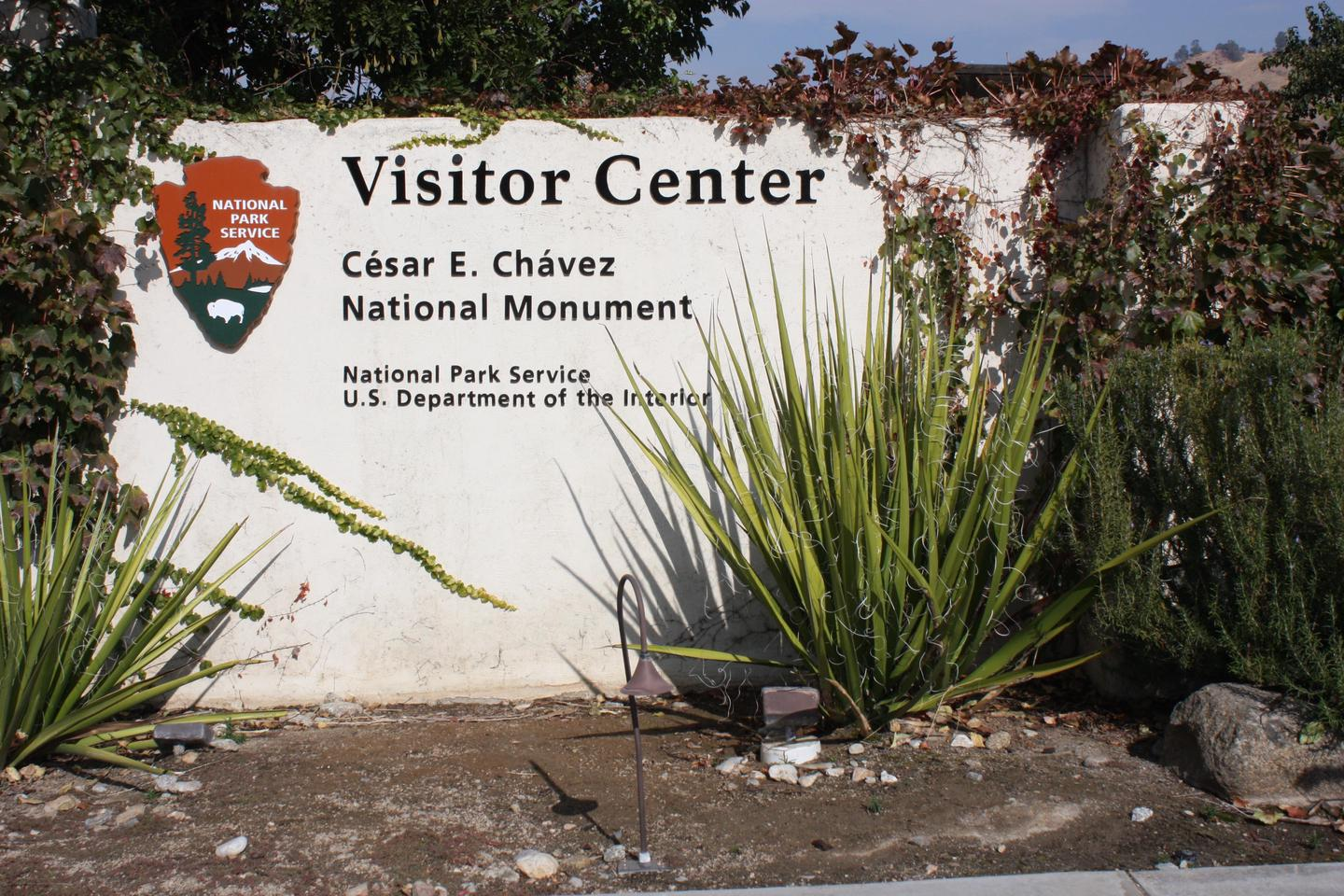 Visitor Center Exterior SIgnThe sign outside the Visitor Center.