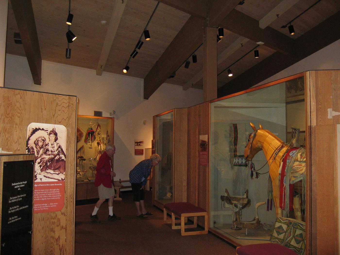 MuseumThe museum displays dozens of historically significant Nez Perce artifacts