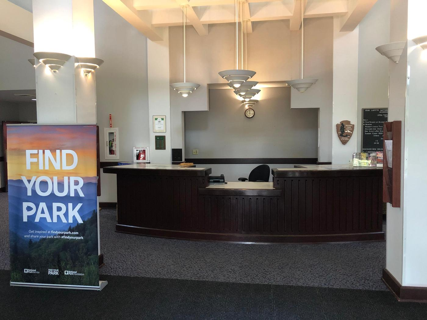 ACC Front DeskThe front desk is a great place to start your visit