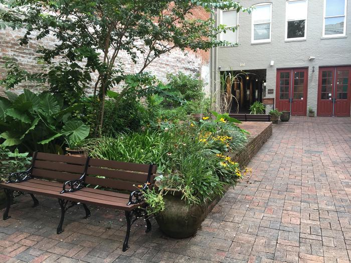 FQ Courtyard 2019Take a rest in our serene and historic courtyard