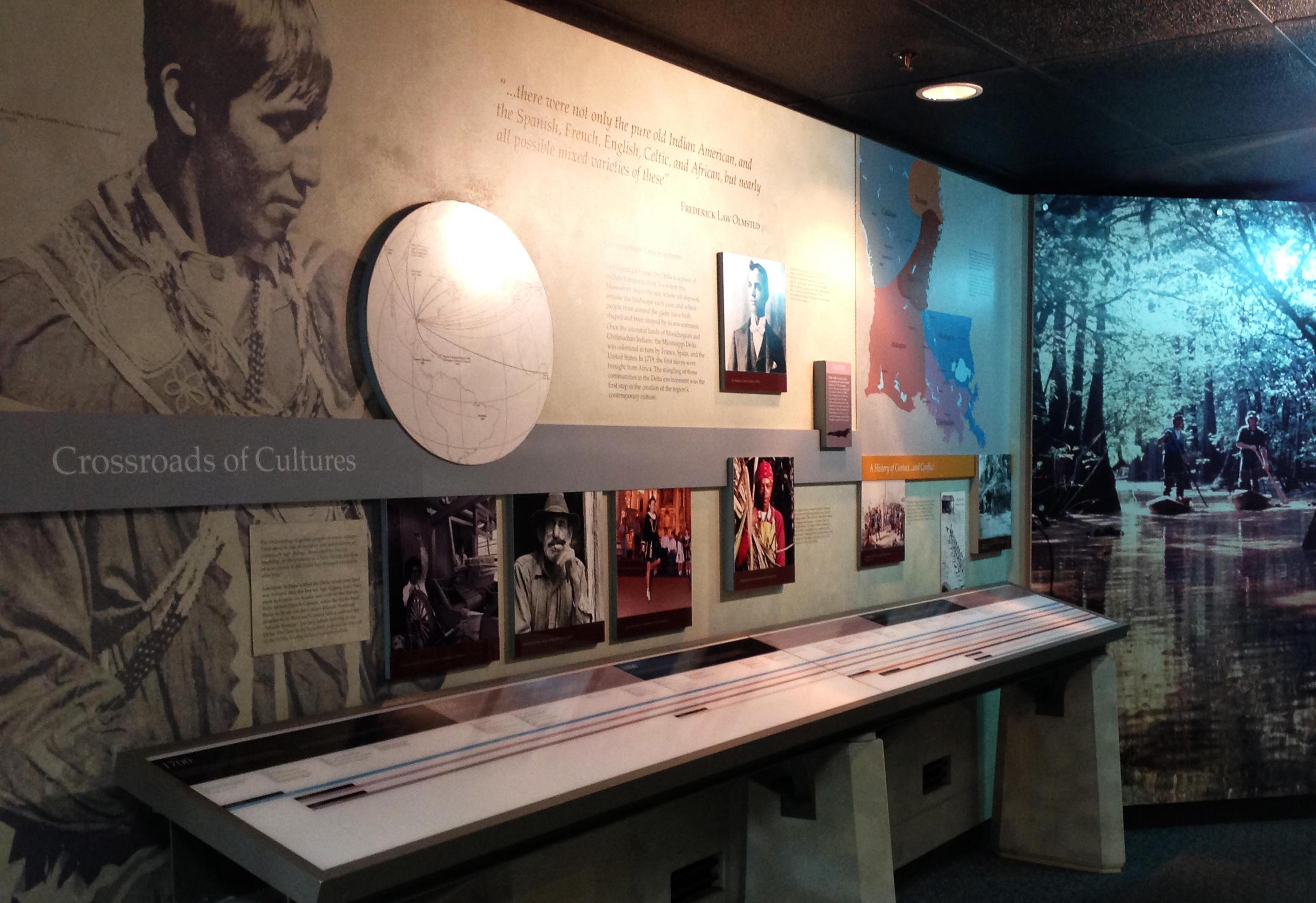 Inside the visitor centerInside our visitor center you'll learn about the cultural history of southern Louisiana