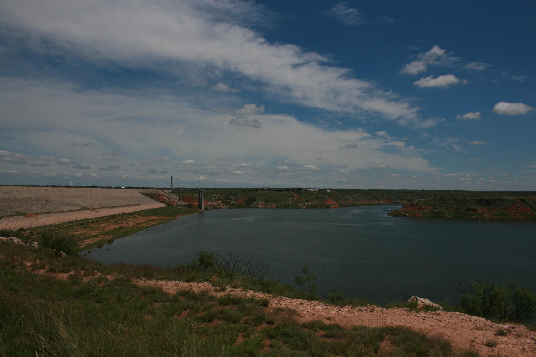 Sanford Dam at Lake MeredithA view of Sanford Dam and Lake Meredith