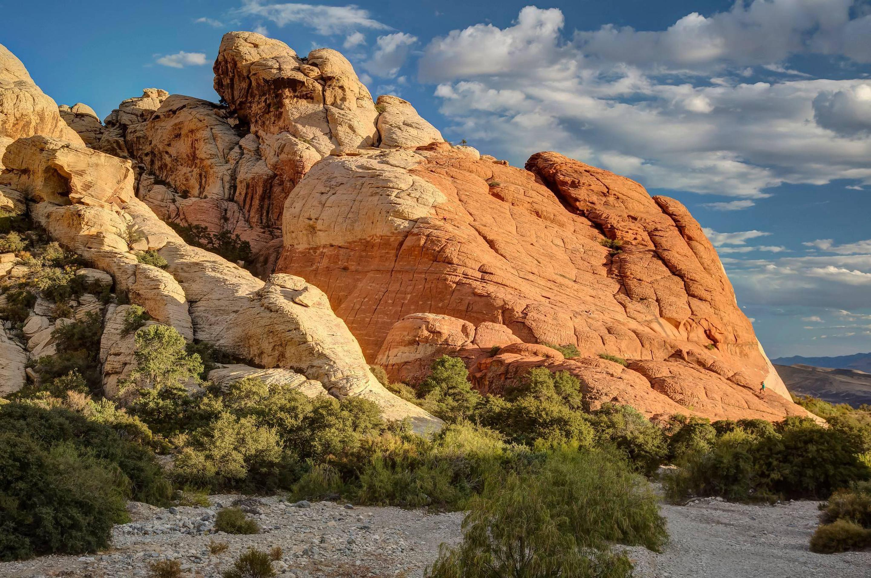 Red Rock Canyon's beautiful red sandstone.Red Rock Canyon's red sandstone glows in the sunlight.