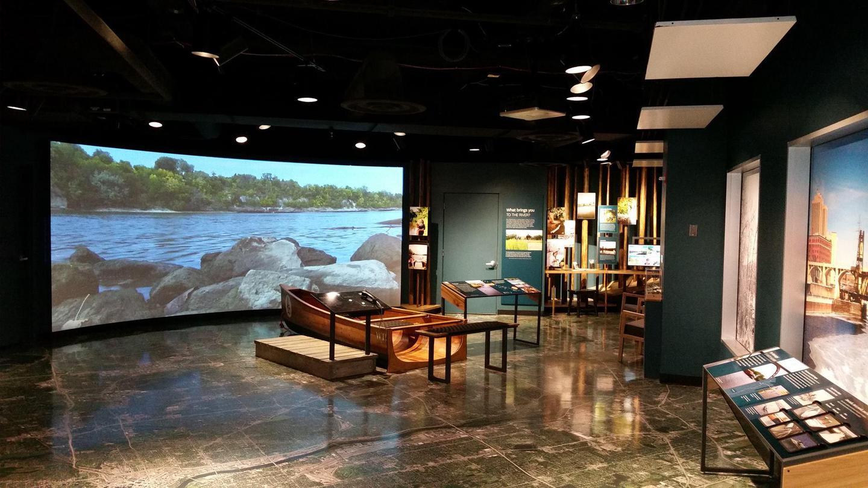 Canoes at Mississippi River Visitor CenterCanoe at Mississippi River Visitor Center