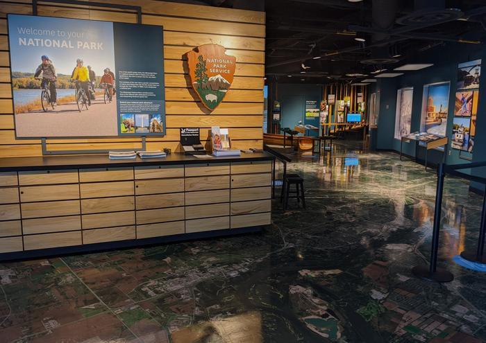 Lobby of Mississippi River Visitor Center