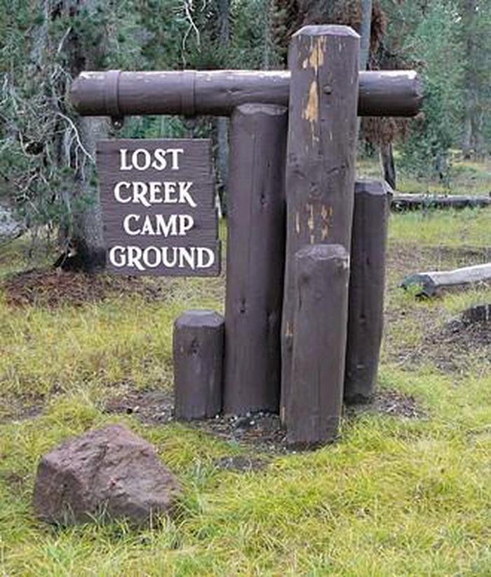 Entrance Sign to Lost Creek Campground