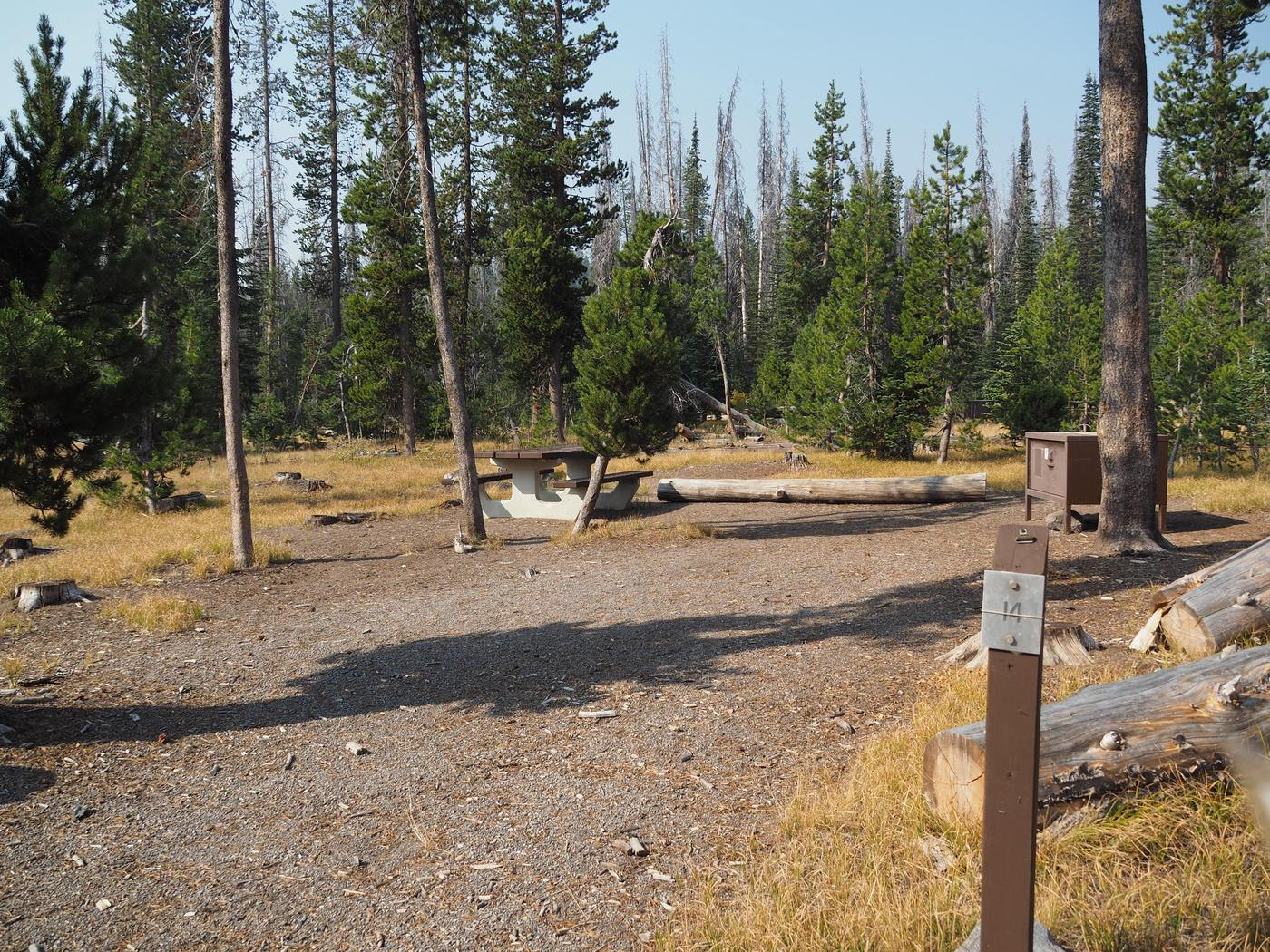 Lost Creek Campsite #14Campsite 14 is in the inner circle.