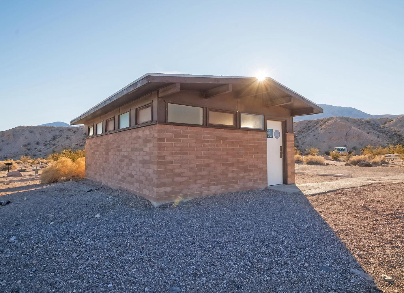 Mesquite Springs BathroomRestroom facilities are provided at the campground.