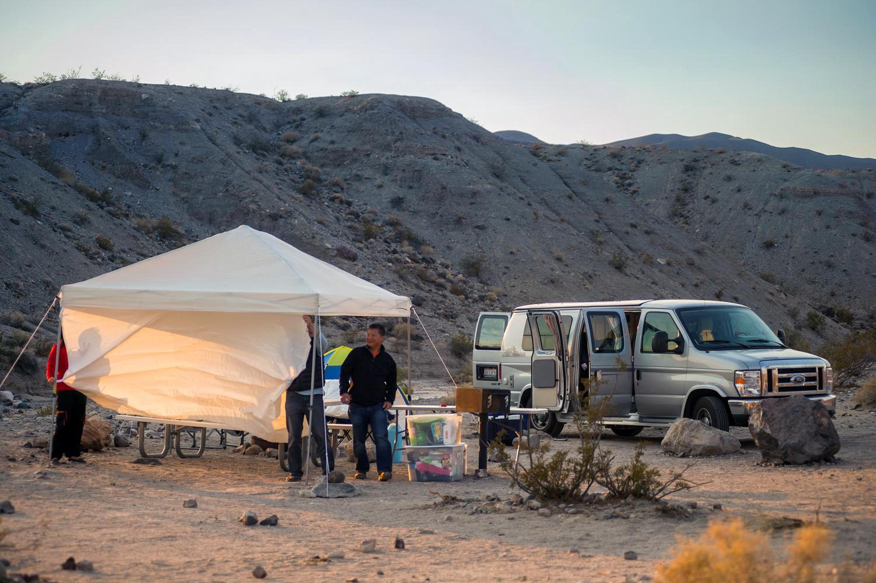 Mesquite Springs camp siteCamping at Mesquite Springs.