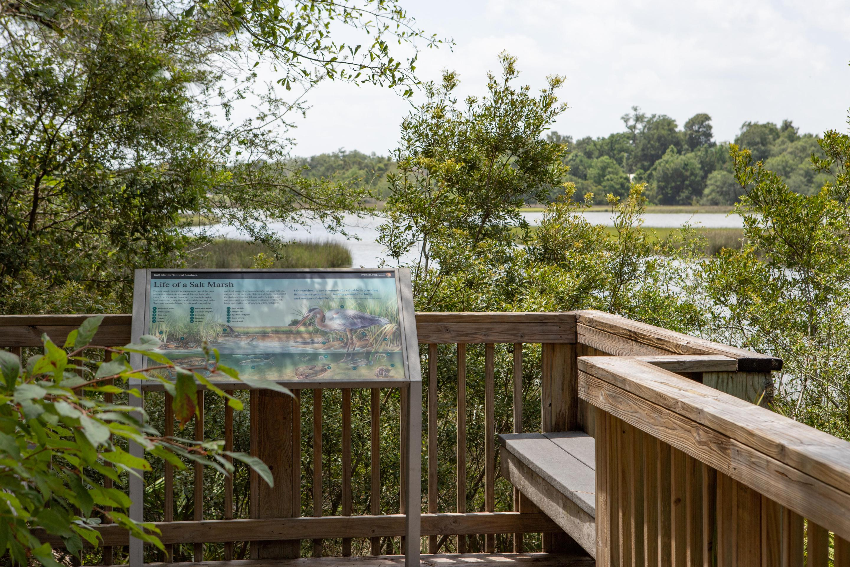 William M. Colmer Visitor CenterThe visitor center provides a boardwalk overlooking Halstead Bayou.