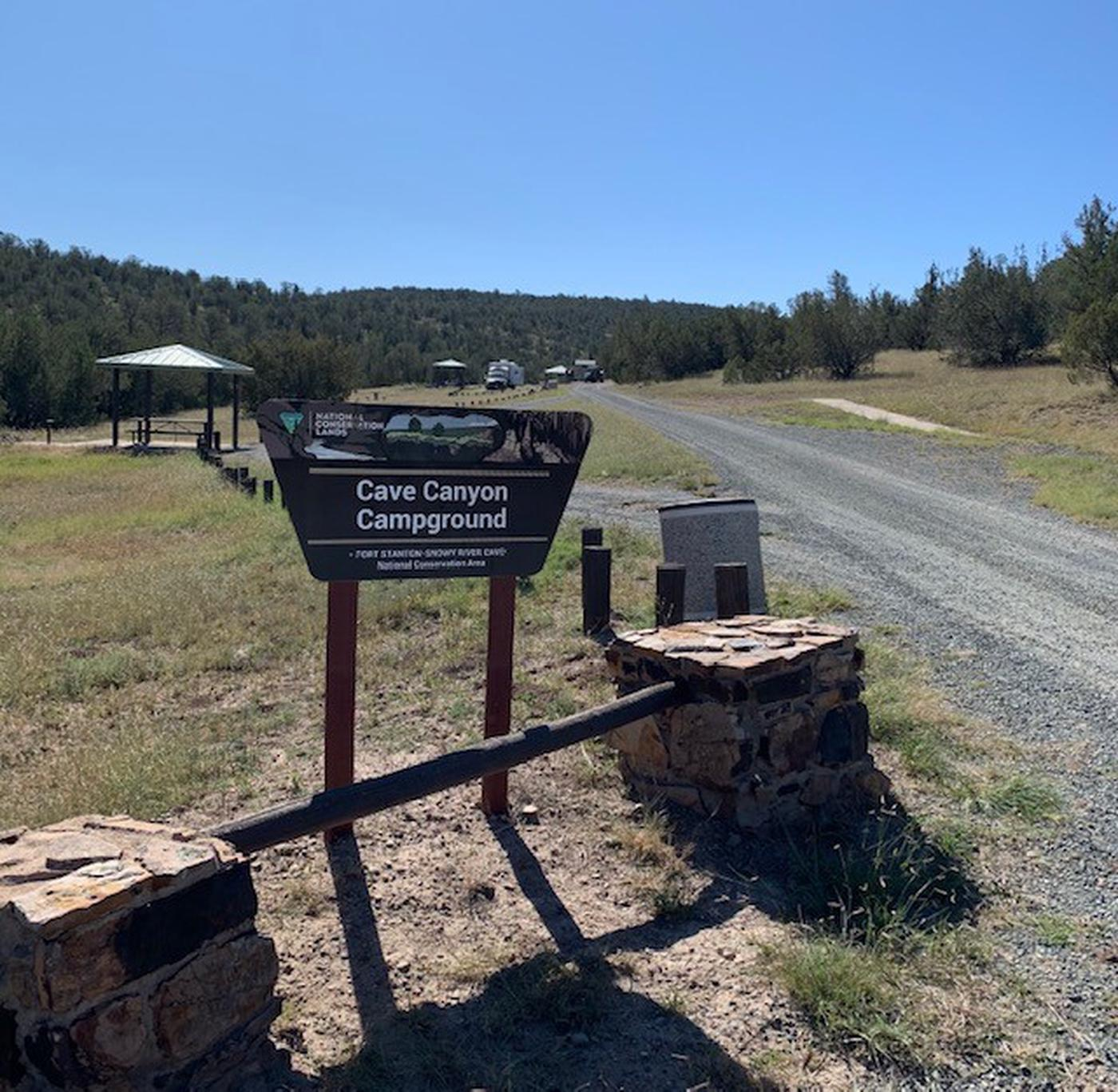 Cave Canyon Campground Entrance SignPhoto of entrance sign to Cave Canyon Campground