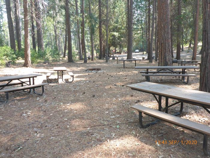 Group kitchen areaThe group kitchen area has 11 picnic tables, serving table, two group barbecue grills and a group fire ring available to rent.