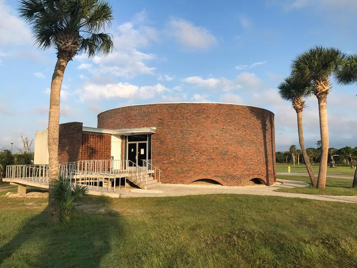 The Visitor Center from the SoutheastThe west landing of the visitor center reveals a wonderful view of Fort Pulaski.